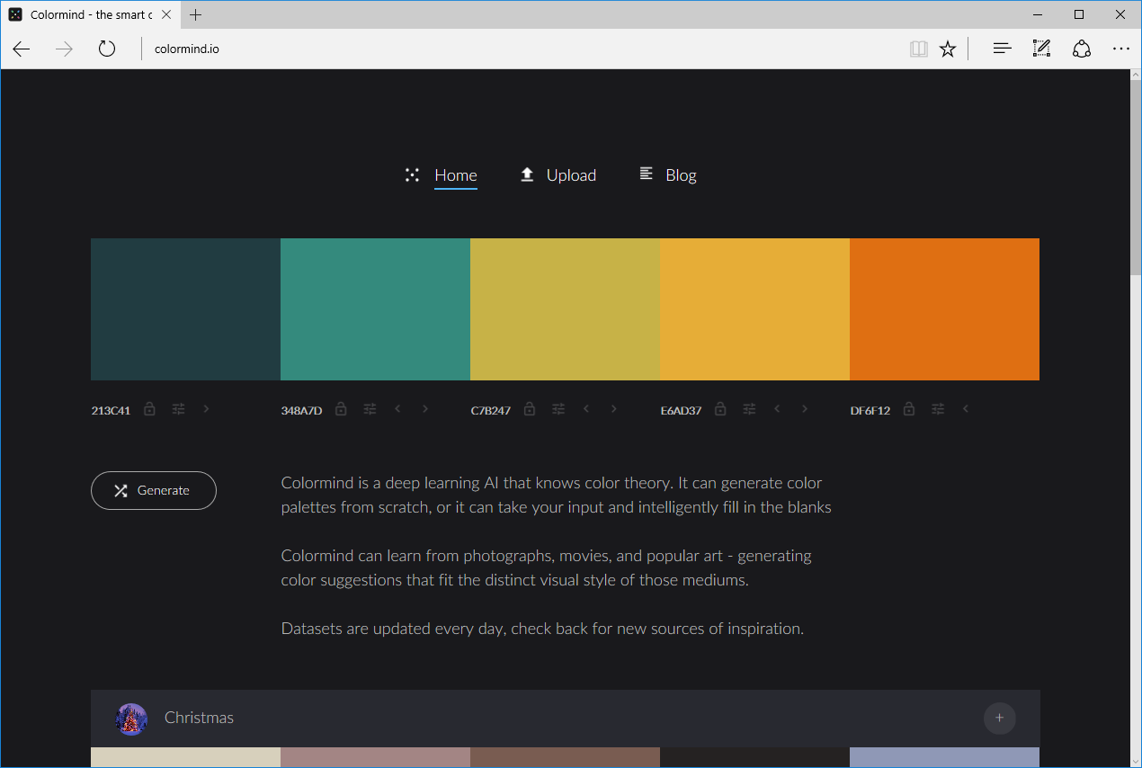 Useful Developer Tools #8: Colormind